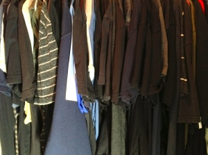 My closet is an ocean of dark colors heavily weighted with black.