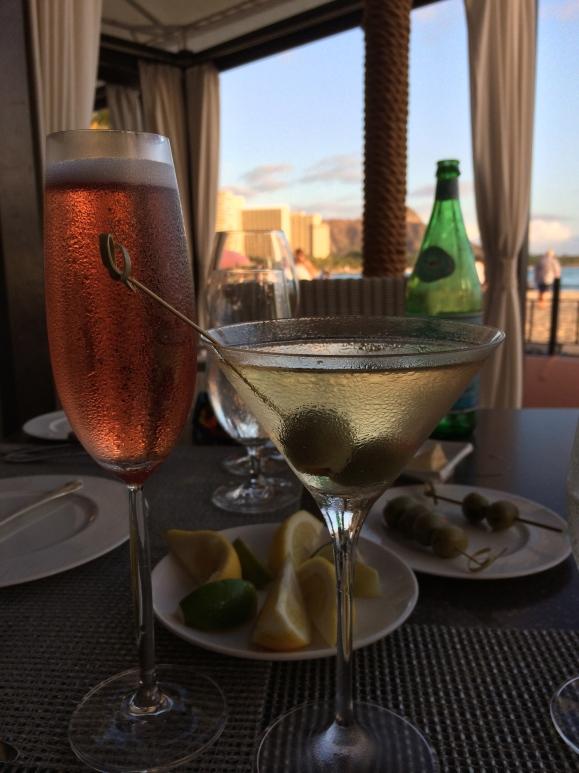 A beautiful sunset dinner on Waikiki Beach...